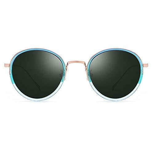 DKee Gafas de Sol Gafas De Sol Ultraligeras con Gafas De Sol Polarizadas Unisex Azul Degradado Marco Verde Lente Protección UV400