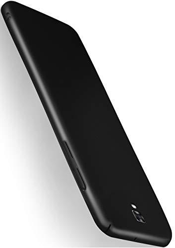 MoEx® Cover Ultra-Sottile Compatibile con LG X Screen | Rigida/Anti-graffio, Nero Metallico