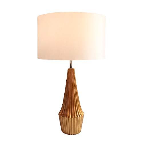 SHENLIJUAN Lámpara de Mesa Creativa Cono LED decoración de la Resina Base Pantalla de la Tela Simple Antiguo Living Room Hotel cabecera del Dormitorio de Las lámparas (67 * 38 cm)
