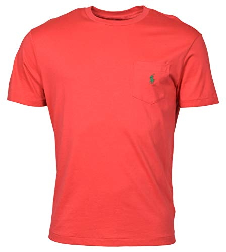 Polo Ralph Lauren Men's Classic Fit Pocket Logo T-Shirt - L - Cactus Flower