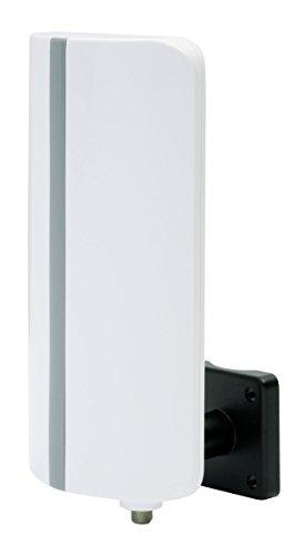 Digitalbox 77 040600Digit T3, antenna esterna amplificata (DVB-T2HD/DVB-T, FM, DAB+, Full HD, amplificazione: 20dB), bianca