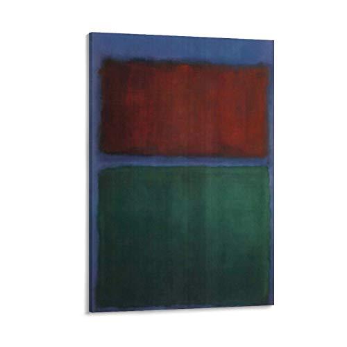 Earth & Green von Mark Rothko, ästhetischer Posterdruck, Kunstdruck, Wandbild, Leinwand, Poster, Geschenke, moderne Schlafzimmer-Dekoration, 50 x 75 cm