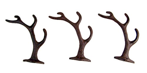 Rustic Cast Iron Wall Hook, Set of 3