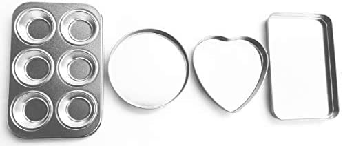 Easy Bake Oven Deluxe Pan Set Includes Cupcake Rectangular Round and Heart Pans product image
