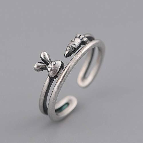 Vintage Verstellbarer Ring,S925 Sterling...