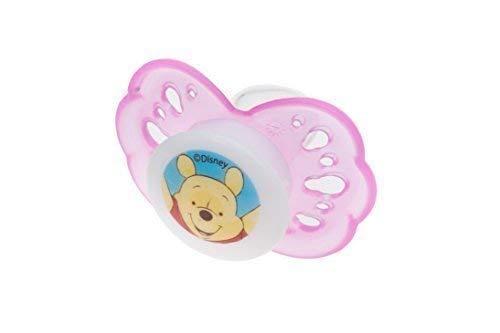Beruhigungsschnuller aus Silikon Disney Winnie Pooh rosa ab 0 Monate Größe 1 Schnuller