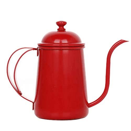 Handgewassen koffiepot, fijne mondpot, paleispot, roestvrij staal huishouden, theepot, lange mond, druppeltype gieter.
