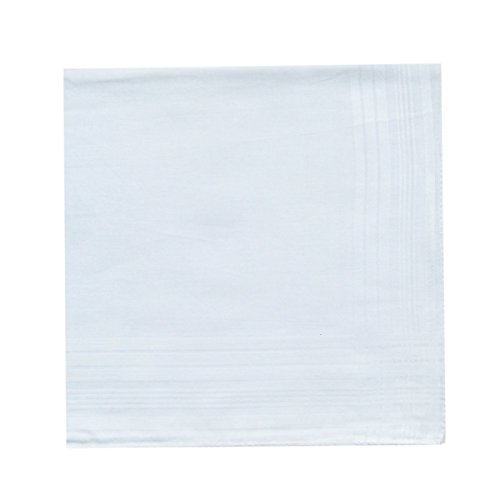 Men's Pure Cotton Handkerchief/Hankies with White Hem