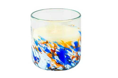 ANTONI BARCELONA Scented Candle Recycled Glass Aromatherapy Colored Mosaic 5.7Oz 50Hr Burn Natural Essential Oils Ecological Soy Wax Unique (Geranium)