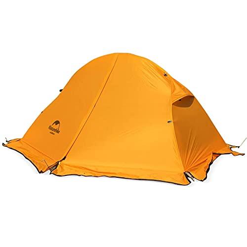 Naturehike Naturehike 1人用 グランドシート付 オレンジ色 雪スカート付き 自立式 二重層テント 3シーズン アウトドアキャンピング 自転車ツーリングテント 超軽量 屋外 防水 (オレンジ/20D/スカート, 1人用)