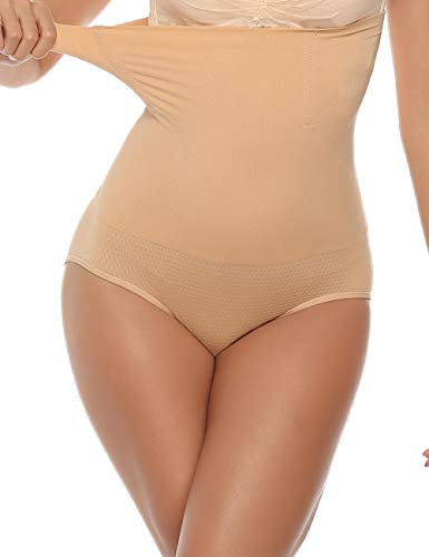 Aibrou Braguitas Moldeadora Cintura Alta Adelgazantes Abdomen,Faja Reductora Postparto Shapewear para Body Mujer Comodo y Transpirable Talla Grande S-XXL