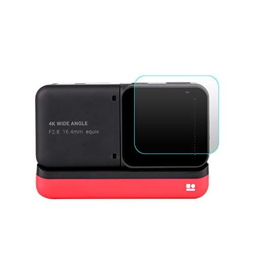 VICKY-HOHO Gehärtete Brille Len Film kompatibel mit Insta 360 ONE R Twin Edition 4k Weitwinkelkamera