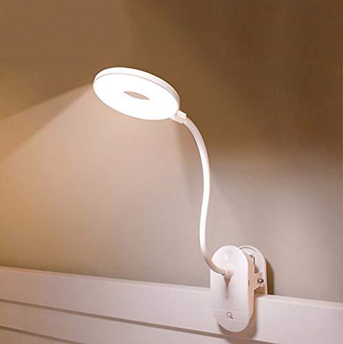 ZGNB Flexo Brazo 360° Flexible Lámpara-Led-Escritorio con Pinza Luz para Lectura Pinza con Panel Táctil Lampara de Mesa con USB 3 Niveles de Luminosidad para Libro, Tablet