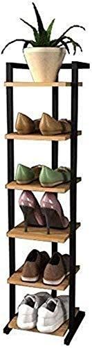 Estante de zapatos Zapatero zapatero del organizador del almacenaje del zapato estantes de 6 estantes de madera del zapato del estante del estante de almacenamiento Unidad de pasillo de entrada, Estan
