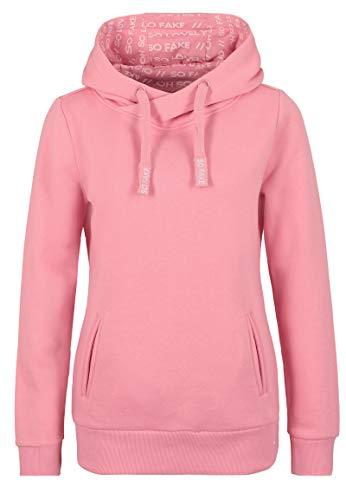 Sublevel sportlicher Damen Sweat Hoodie mit Kapuzen Print pink XS