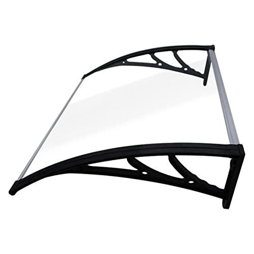 Marquesina para toldo,marquesina para puertas y ventanas exterior de varios tamaños,cubierta para patio,protección contra rayos ultravioleta,paneles de plástico transparente ( Size : 100x100cm )