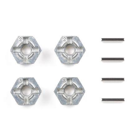 TAMIYA 300053056 - Alu Radmitnehmer Sechskant (4), 12 mm