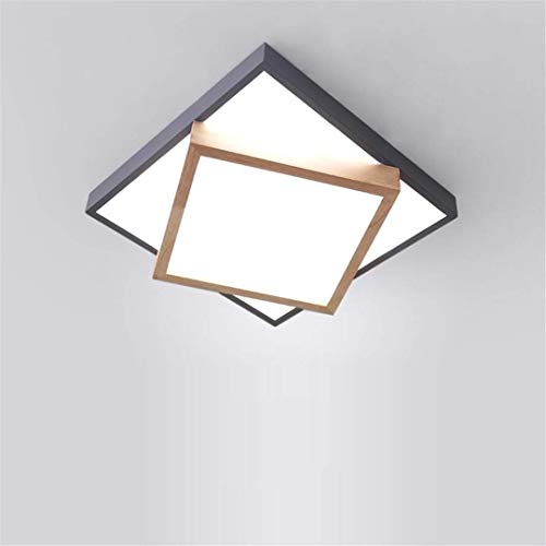 Thumby plafondlamp noord-stijl slaapkamer lamp grijs creatief vreemd smeedijzer dubbel decker vierkant plafond lamp kleine log tweede slaapkamer studielamp