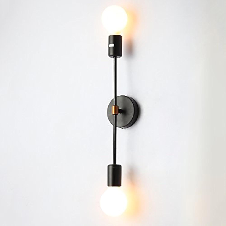 Nordic Modern Style Eisen Doppelkopf Wandleuchte Wohnzimmer Schlafzimmer Nachttisch Cafe Gang Kreative Mehrarm Wandhalterung Licht, E27
