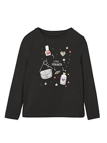 Vertbaudet Glitzer-Shirt für Mädchen schwarz 92