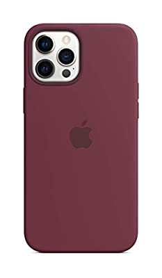Apple Silicone Case with MagSafe (for iPhone 12 Pro Max) - Plum