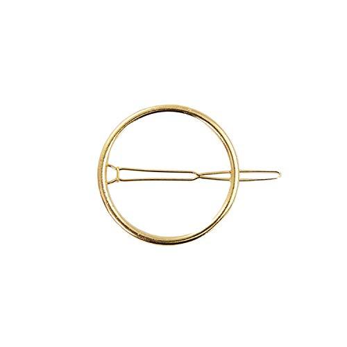 Oblique Unique® Pince à cheveux ronde en métal pour femme ou fille - Couleur au choix