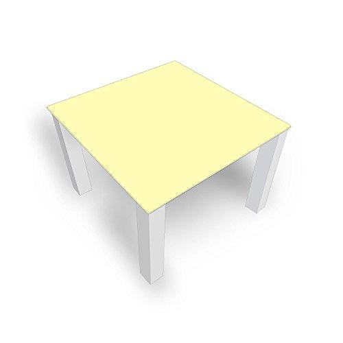 DekoGlas Table Basse en Verre uni Beige FMK-50-023 45 cm de Haut – Table avec Plateau en Verre 80 x 80 cm 100 x 100 cm 90 x 55 cm 112 x 67 cm 120 x 75 cm