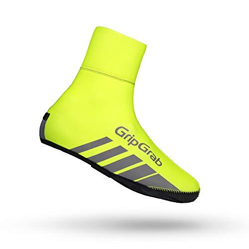 GripGrab RaceThermo | Winter Rennrad Überschuhe | Warme Wasserdichte Winddichte Neopren Überzieher Fahrrad, GelbHi-Vis, (44/45)