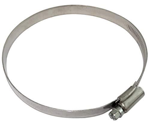 AERZETIX: Juego de 5 abrazaderas de tornillo L12mm para manguera tubo jardín automóvil en acero cromado DIN 3017 (100-120mm)