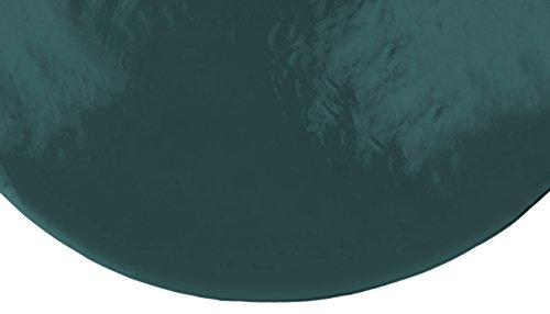 Brandsseller Gartentischdecke Lacktischdecke Tischdecke Hochglanzversiegelt Wetterfest Terrasse Balkon Camping - Größe: Rund 160 Ø Farbe: Dunkelgrün