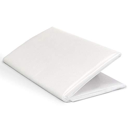 ZADAWERK® Entretela termoadhesiva - 40+18 g/m² - media - blanco - 90x100 cm - planchar vellón - coser - patchwork - dobladillo