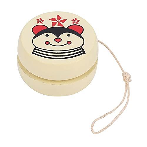 Lindas Estampados de Animales de Madera yoyo Juguetes Ladybug Toys niños yo-yo Creativo yo yo Juguetes para niños niños yoyo Ball Dropshipping (Color : Khaki)