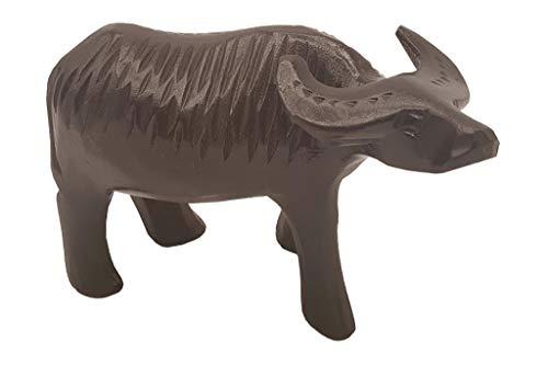 TULAY Carabao Karabaw Wooden Filipino Water Buffalo Figurine Paperweight Handsculpted Tropical Island Decor