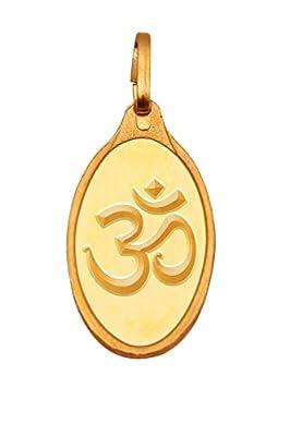 Kundan 24k (999.9) Yellow Gold 5.22g Om Pendant