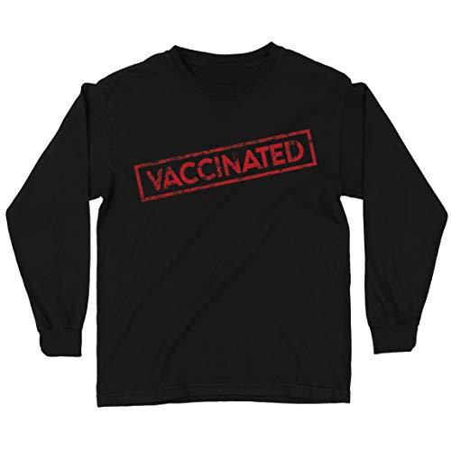 lepni.me Camiseta para niños vacunadas vacunadas salva vidas 2021 traje de concienciación