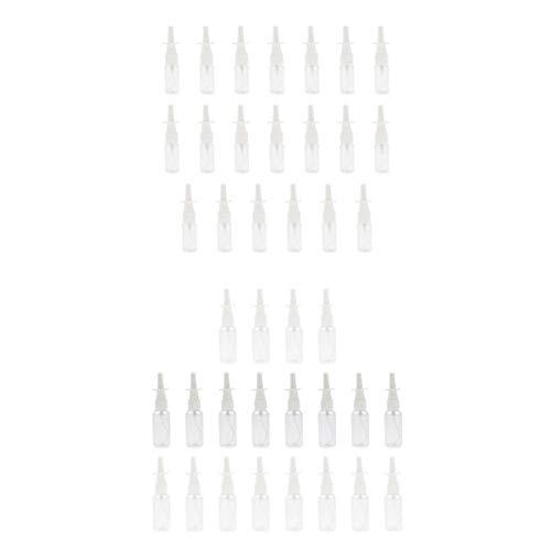 SDENSHI 40x 15ml 30ml Vaporisateur Plastique Vide Flacon de Pulvérisation Nasale avec Capuchon, Transparent