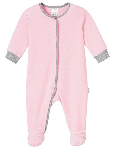 Schiesser AG Schiesser Baby-Mädchen Anzug mit Fuß Schlafstrampler, Rot (rosé 506), 74 (Herstellergröße: 074)
