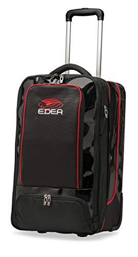 Edea Designer Trolley-Tasche, Schwarz / Rot