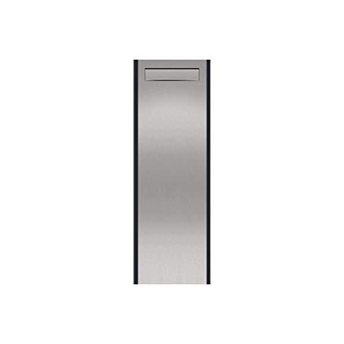 """Thorwa Design Briefkasten Standbriefkasten Briefkastensäule """"Pylon"""" mit individuellem Schriftzug/Hausnummer – für außen – H: 150cm (Postentnahme hinten)"""
