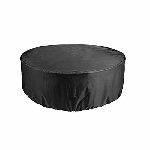 KUAIE Cubierta de Muebles de Ratán Impermeable A Prueba de Viento Funda Muebles Anti-rasguños Funda Muebles Jardín Negro 25 Tamaños Personalizable (Color : Negro, Size : 130x90cm)