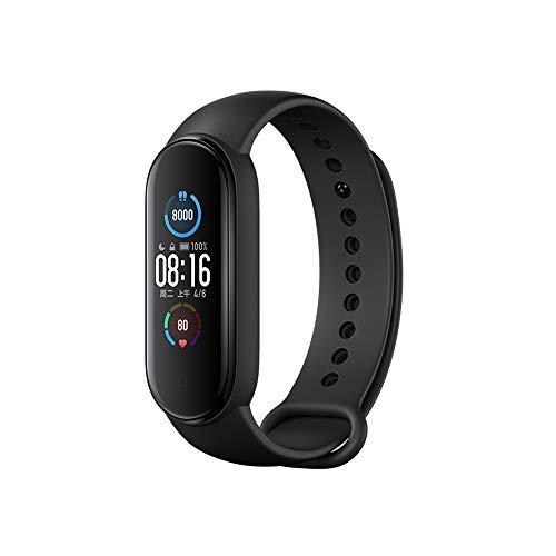 Xiaomi Mi Band 5スマートバンド、アクティビティメーター付きスマートウォッチ、歩数計、心拍数モニター、健康管理、睡眠モニター、防水、着信通知、音楽再生コントロール