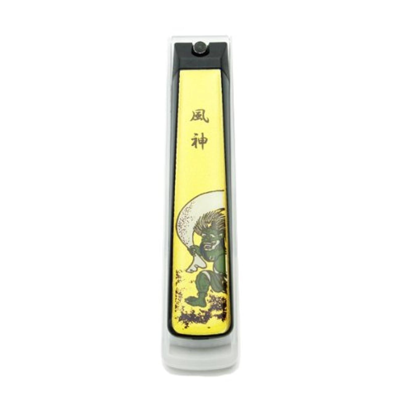 のヒープモノグラフ塩辛い蒔絵爪切り 風神 PETケース