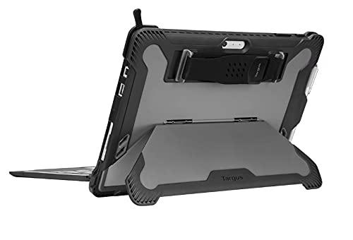 Capa protetora para tablet – robusta – policarbonato endurecido, poliuretano termoplástico (TPU) – preta – para Microsoft Surface Pro (metade de 2017), Pro 4, Pro 6, Pro 7