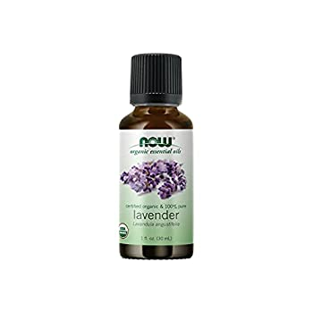 NOW Essential Oils Organic Lavender Oil Soothing Aromatherapy Scent Steam Distilled 100% Pure Vegan Child Resistant Cap 1-Ounce