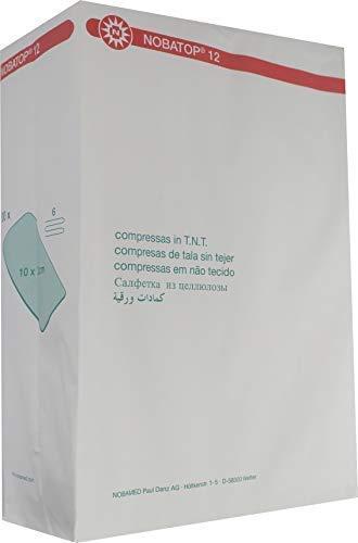 NOBATOP 12 Vliesstoffkompressen 200 Stück Kompressen 6-fach Vlieskompressen (10 cm x 20 cm)