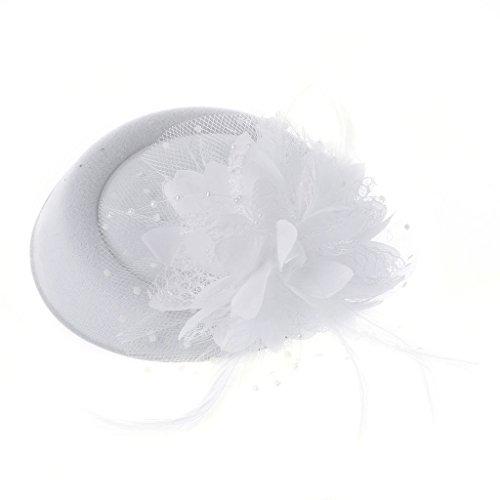 Kcnsieou Feine Verarbeitung Fascinator Hüte Stirnband Damen Feaer Blume Braut Haarschmuck Hochzeit