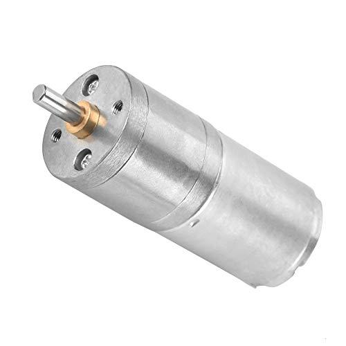 DC 12V motor del engranaje, par eléctrico Micro Reducción de alta velocidad motorreductor de 25GA-370 de salida Centric Eje 25 mm Diámetro de caja de cambios del motor eléctrico(12V 60RPM)