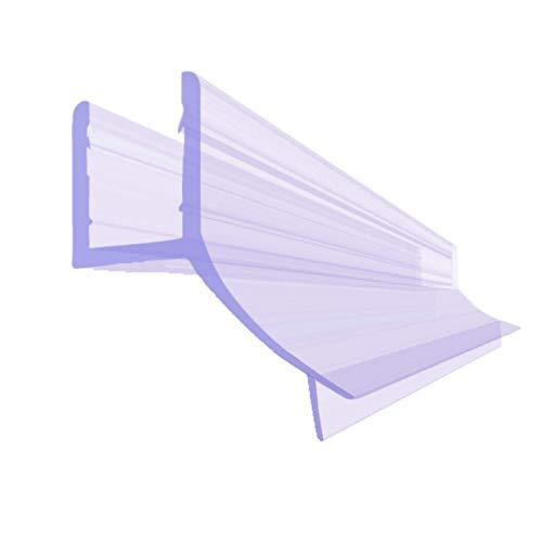 BIJON Duschdichtung 8mm - 200cm Duschtür-Dichtung für die Glas-Tür, Dichtung Dusche Glastür, Duschkabinen-Dichtung, Duschlippendichtung, Abdichtung Dusche, Gummilippe - DU03