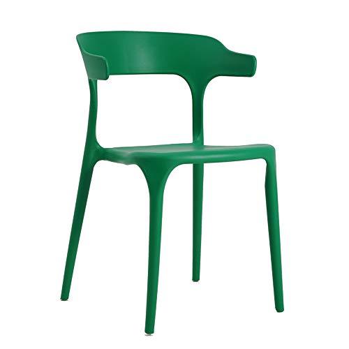 YAN JUN Nordic loisir moderne minimaliste en plastique dinant la chaise arrière tabouret créatif adulte chaise restaurant maison cor chaise quatre couleurs en option taille: 46X50X75cm AA