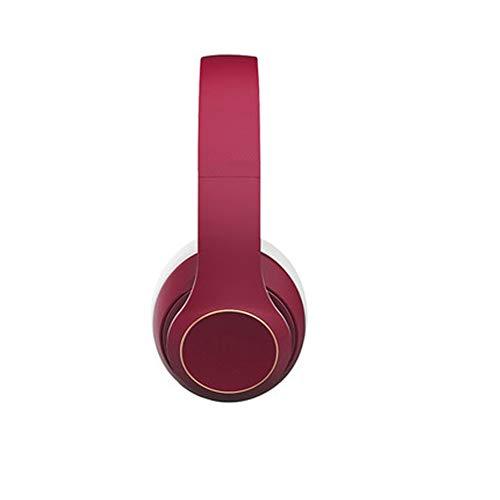 Auriculares con cancelación Activa de Ruido Auriculares Bluetooth Auriculares inalámbricos sobre Oreja, Auriculares estéreo con Cable Buit en micrófono para teléfono Celular, PC, TV, PC, Peso lig